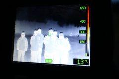 Arbeit mit der Wärmebildkamera