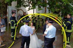 Glückwünsche der Feuerwehrführung