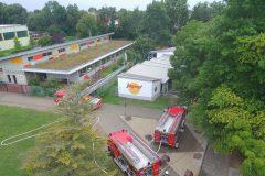 Brandangriff Übung von oben