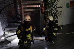 Brandangriff Übung von innen