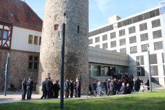 Sammeln alle Abteilungen vorm Kreishaus Dieburg