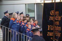 Gruppenbild der Jugendfeuerwehr wird vorbereitet