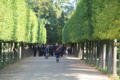Ankunft aller Abteilungen im Schlossgarten