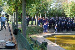 Vorbereitung des Gruppenbildes im Schlossgarten