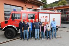 Gruppenbild Feuerwehrhaus Oberammergau