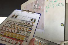Darstellen von Mannschaft und Gerät mit Magnetbildern