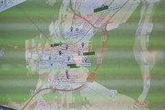 Lagekarte mit simulierten Einsatzstellen