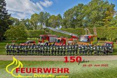 Einsatzkräfte der Feuerwehr Dieburg