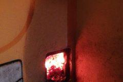 Brandgut im Kamin