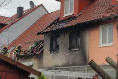 Starke Brandschäden am Gebäude