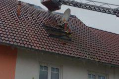 Drehleiter im Dachbereich