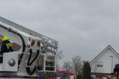 Teleskopmast der Feuerwehr Münster im Einsatz