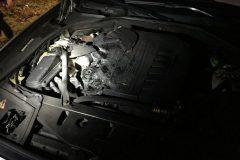 Verschmorte Motorteile