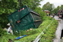 Umgestürzter Container