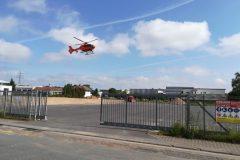 Hubchrauber im Landeanflug