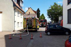 Feuerwehren Dieburg und Groß-Zimmern am Einsatzort