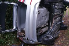 Stark beschädigtes Fahrzeug