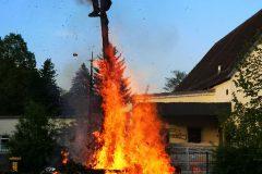 brennende Walpurgis Hexe