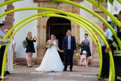Spalier stehen bei der Hochzeit