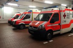 Rettungsmittel in Fahrzeughalle des Hauptstützpunktes