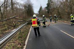 Orkan Sabine - Einsatzleitung durch Zuführer