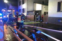 Kräfte von Feuerwehr Dieburg und Groß-Zimmern an der Einsatzstelle