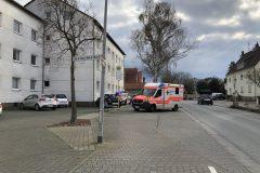 Rettungswagen in Bereitstellung