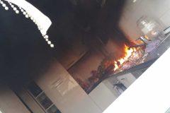 Feuer und Rauchentwicklung inder Küche