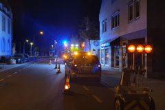 Polizei vor abgesicherter Einsatzstelle