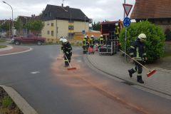 Hydrauliköl im Bereich des Kreisverkehrs