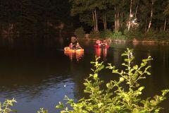 Personensuche mit Schlauchboot