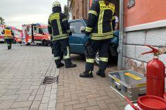 Bereitstellen von Materien und Sicherstellen des Brandschutz