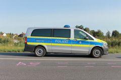 Unfallaufnahme durch die Polizei
