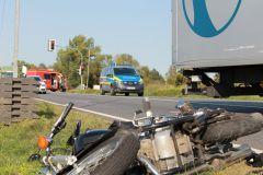 Motorrad mit Totalschaden