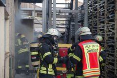 Brandbekämpfung der Feuerwehr Gundernhausen