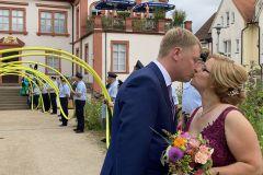 Frisch vermählt: Phillipp und Laura