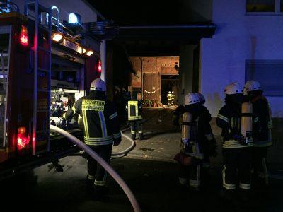 Brandangriff mit zwei C-Rohren